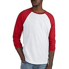 Burton - Red & frost raglan t-shirt