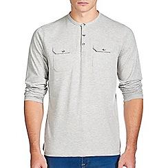 Burton - Grey marl utility grandad t-shirt