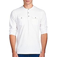 Burton - White utility grandad t-shirt
