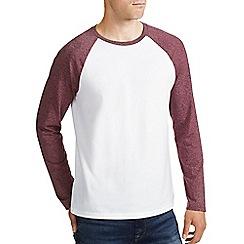 Burton - Burgundy & white raglan t-shirt