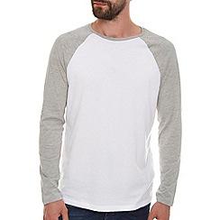 Burton - Grey and white raglan t-shirt
