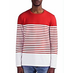 Burton - Red & white breton stripe t-shirt