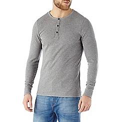 Burton - Grey ribbed long sleeve top