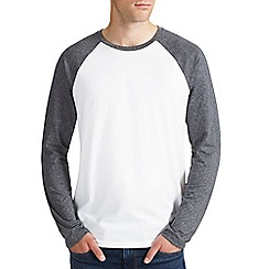 Burton - Grey textured long sleeve raglan t-shirt
