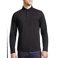 Burton - Black long sleeved polo shirt