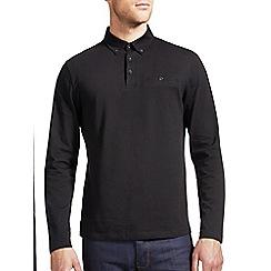 Burton - Black long sleeved polo shirt