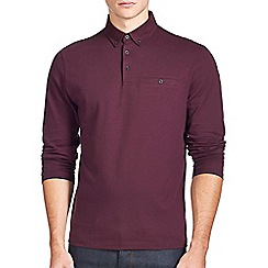 Burton - Burgundy long sleeve polo shirt