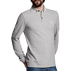 Burton - Grey long sleeve polo shirt