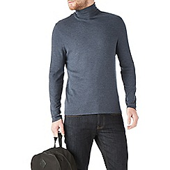 Burton - Navy jersey roll neck