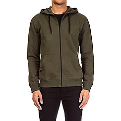 Burton - Khaki zip-through hoodie