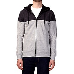 Burton - Charcoal cut and sew hoodie