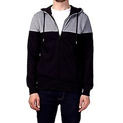 Burton - Navy cut and sew hoodie