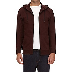 Burton - Burgundy zip through hoodie