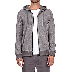 Burton - Grey herringbone zip-through hoody