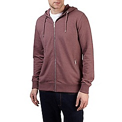 Burton - Berry marl zip through hoodie