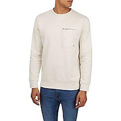 Burton - Cream crew neck sweatshirt with contrast pocket