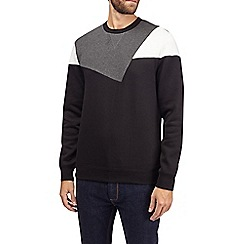 Burton - Grey cut and sew sweatshirt