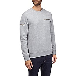 Burton - Grey zip detail sweatshirt
