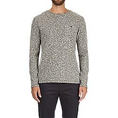 Burton - Grey texture lightweight crew neck t-shirt