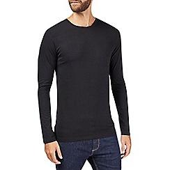 Burton - Black long sleeve muscle fit t-shirt