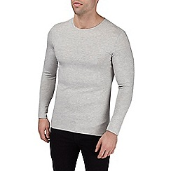 Burton - Grey marl muscle fit long sleeve t-shirt