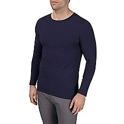 Burton - Navy long sleeve muscle fit t-shirt