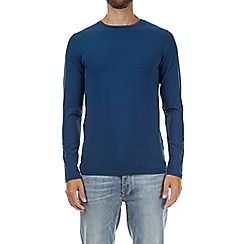 Burton - Petrol blue long sleeve muscle fit t-shirt