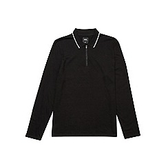 Burton - Black long sleeve zip neck polo shirt