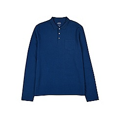 Burton - Blue long sleeve stretch polo