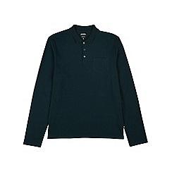 Burton - Green long sleeve stretch polo