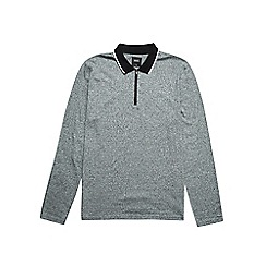 Burton - Grey long sleeve zip neck polo shirt