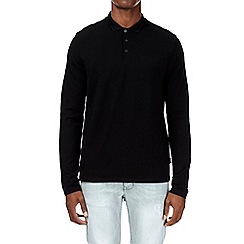 Burton - Black long sleeve stretch polo