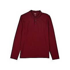 Burton - Oxblood long sleeve stretch polo