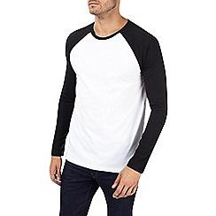 Burton - Black and white long sleeve raglan t-shirt