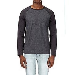 Burton - Charcoal texture long sleeve raglan t-shirt