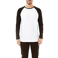 Burton - Black and frost grey long sleeve raglan t-shirt