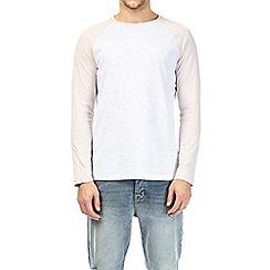 Burton - Pink and frost grey long sleeve raglan t-shirt