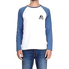 Burton - Cobalt chest print raglan t-shirt