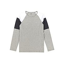 Burton - Grey, white and navy block raglan t-shirt