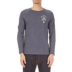 Burton - Navy grindle long sleeve raglan t-shirt with chest print