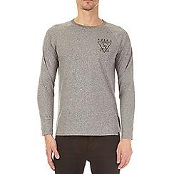 Burton - Grey grindle long sleeve raglan t-shirt with chest print