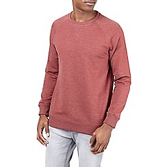 Burton - Red marl crew neck sweatshirt