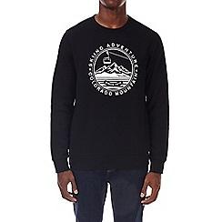 Burton - Black ski print crew neck sweatshirt