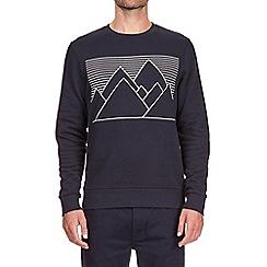 Burton - Navy hi build mountain print sweatshirt