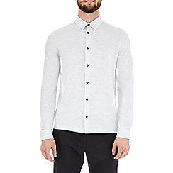 Burton - Light grey long sleeve pique shirt