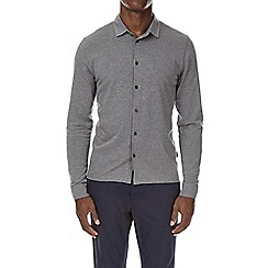 Burton - Charcoal button through stretch jersey shirt