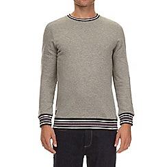 Burton - Grey tipped crew neck sweatshirt