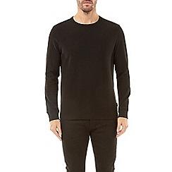 Burton - Black mini waffle long sleeve t-shirt