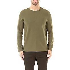 Burton - Khaki mini waffle long sleeve t-shirt