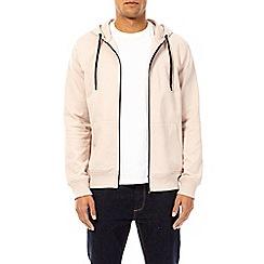 Burton - Pale pink zip-through hoodie